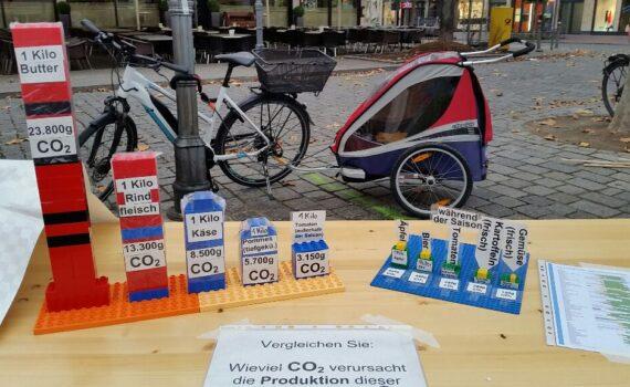 Infostand CO2 im Essen
