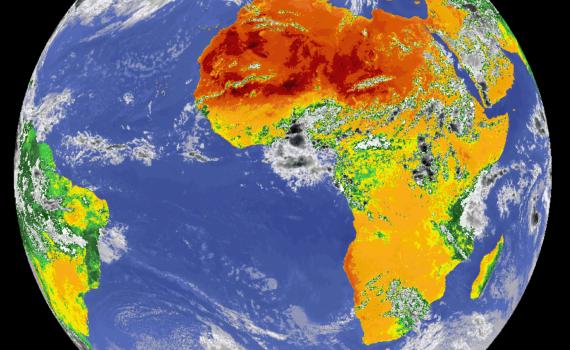 Die Erde vom Weltraum aus gesehen