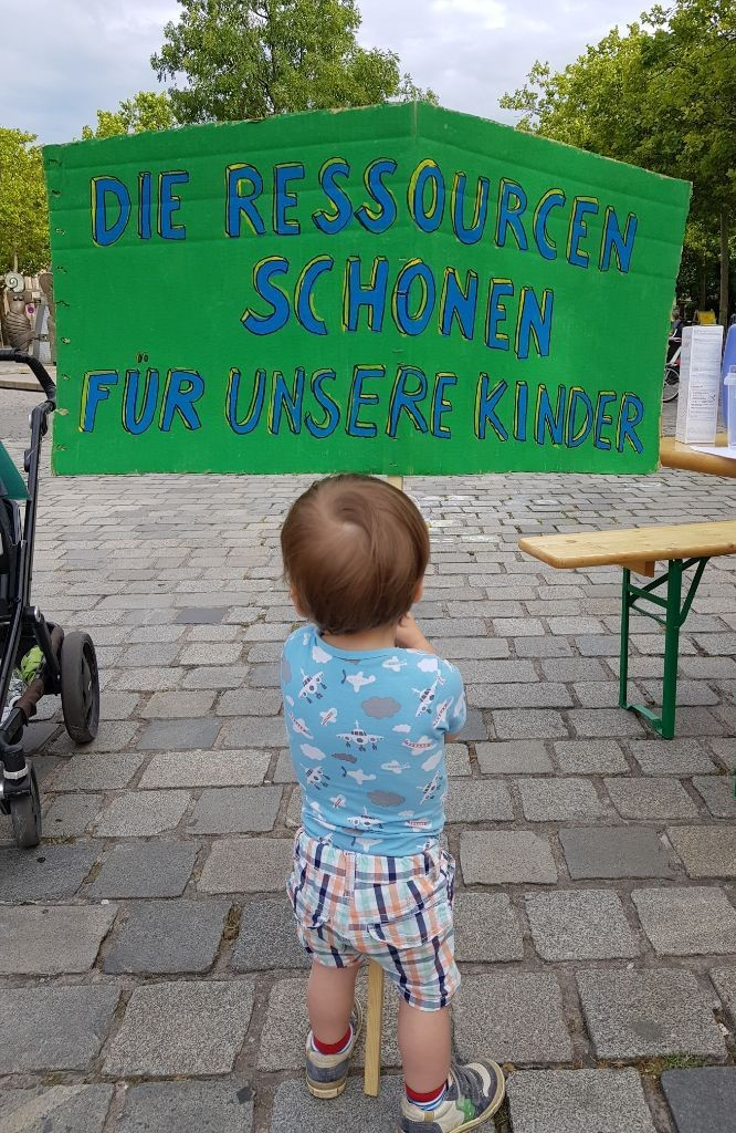 Kind bei Klimaschutzdemonstration