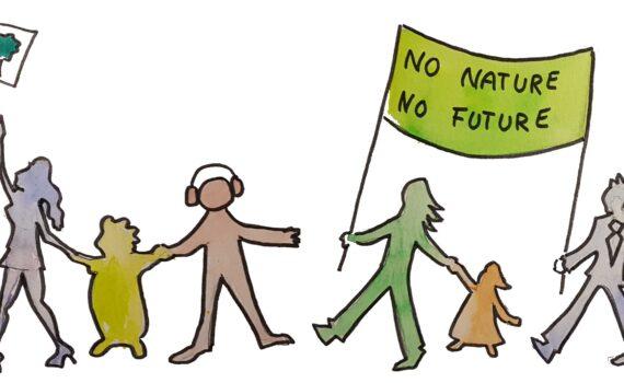 Menschenkette No Planet No Future