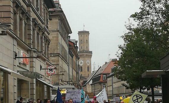 Klimaschutzdemonstration in Fürth