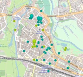 Ausschnitt der Karte von Morgen Fürth